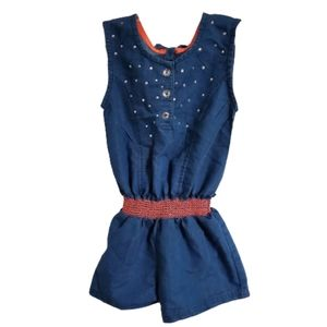 Little Lass Girl's Embellished Sleeveless Romper